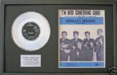 "HERMANS HERMITS-7""Platinum Disc&songsheetSOMETHING GOOD"
